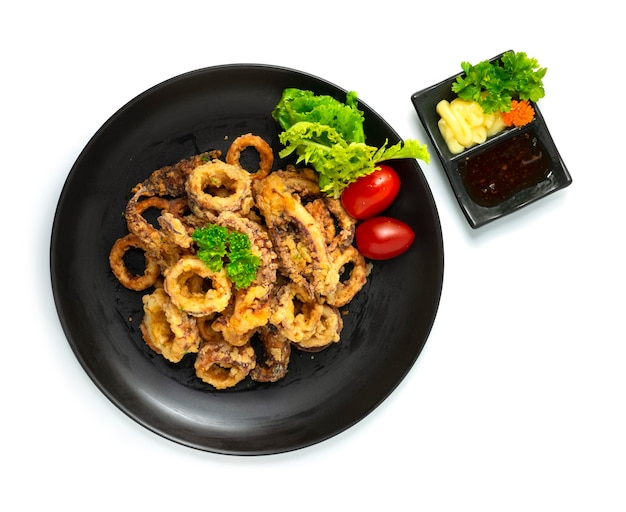 Calamari fritti calamari antipasti italiani stile fusion
