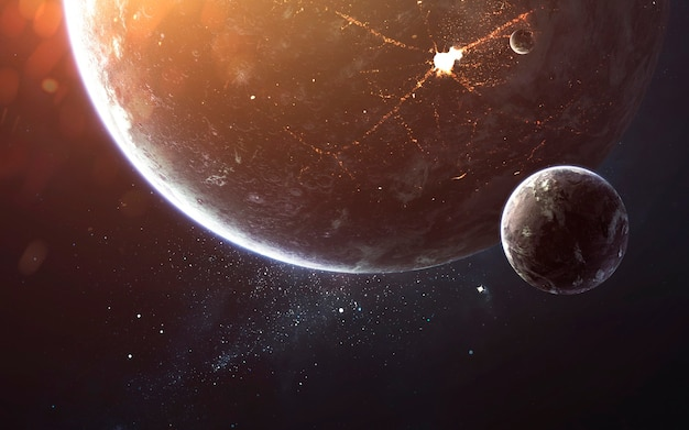Spazio profondo, bellezza del cosmo infinito. carta da parati di fantascienza. elementi di questa immagine forniti dalla nasa