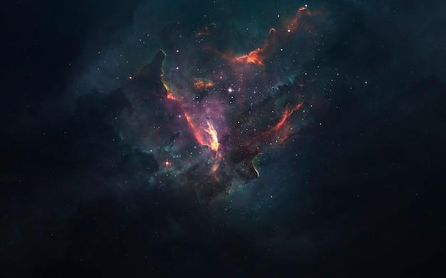 Spazio profondo. carta da parati fantascientifica, pianeti, stelle, galassie e nebulose in una fantastica immagine cosmica. elementi di questa immagine forniti dalla nasa