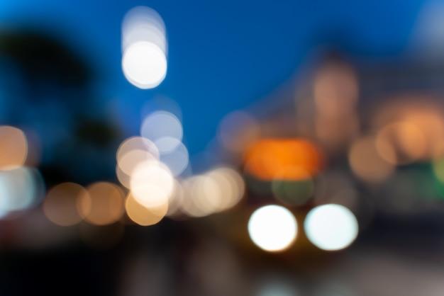 Elementi grafici di sfondo sfocato delle luci del centro