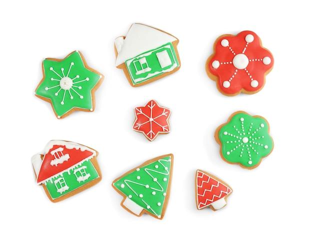Deliziosi biscotti di natale sullo sfondo