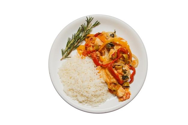 Merluzzo delizioso con riso