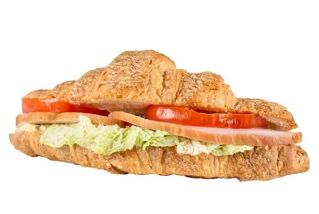 Delicious panini isolato su una superficie bianca.