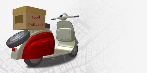 Consegna moto città mappa punto gps localizzatore di coordinate pin