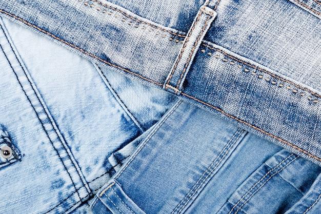 Trama di jeans blu denim