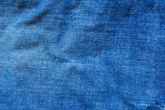 Denim blue jeans texture close up sfondo vista dall'alto