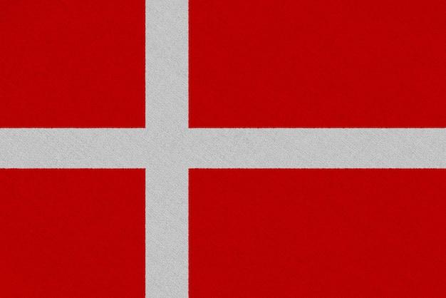 Bandiera del tessuto danimarca