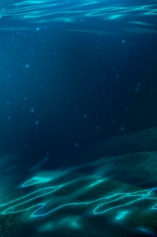 Profondità dell'acqua di mare il fondo del mare i raggi del sole attraverso l'acqua. rocce e pietre sotto l'acqua illustrazione 3d di sabbia di mare