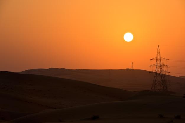 Dune del deserto a liwa, emirati arabi uniti