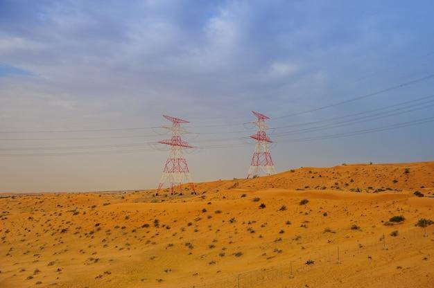 Paesaggio del deserto - duna di sabbia - sfondo della natura