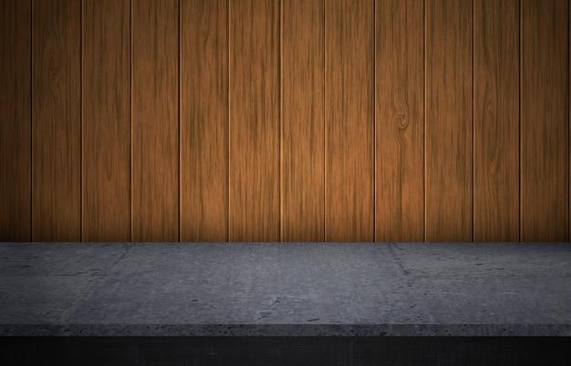 Elemento di design - struttura in legno e sfondo. struttura in legno. piano, scaffale per esposizione prodotti, annunci commerciali.