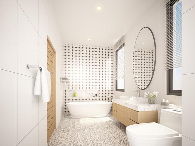 Progettazione del bagno interno. rendering 3d