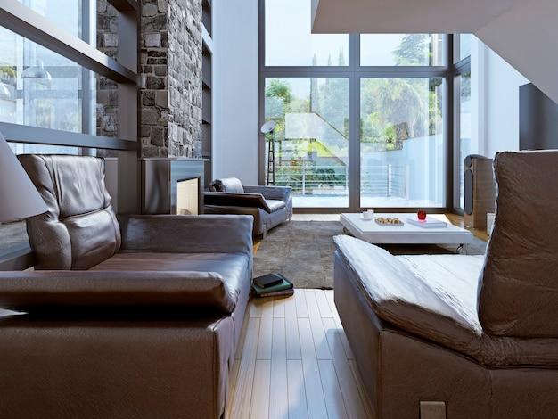 Progettazione di un soggiorno loft