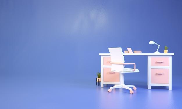 Computer da tavolo con copia spazio