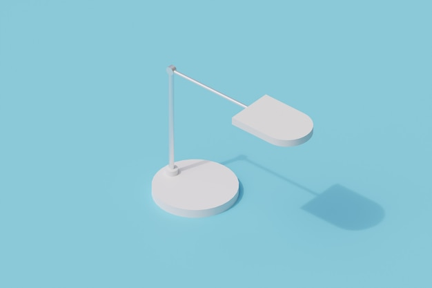 Lampada da tavolo singolo oggetto isolato. 3d render illustrazione isometrica