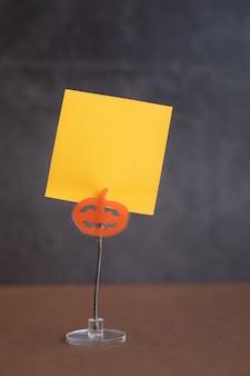 Supporto da tavolo per biglietti e appunti a forma di zucca accessori a tema per halloween