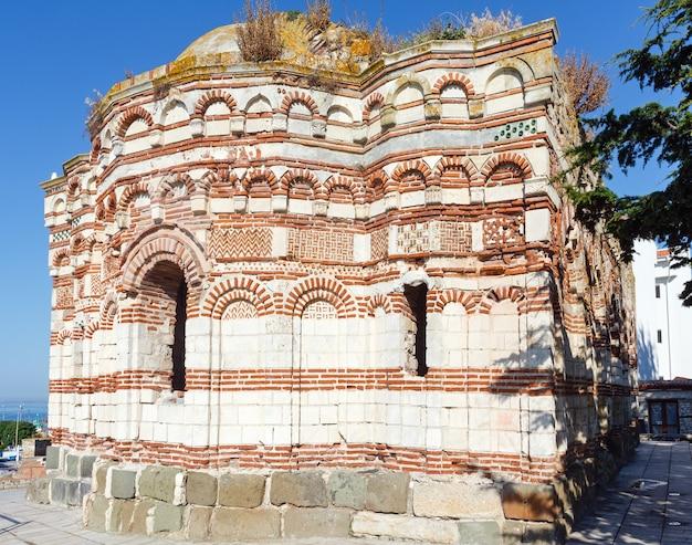 Chiesa distrutta san giovanni aliturghetos a nessebar, bulgaria.