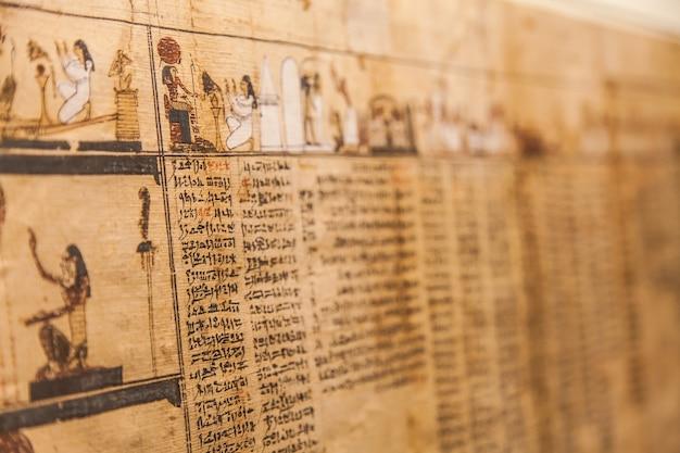 Particolare dell'antico libro dei morti (1070 a.c.), tebe - egitto