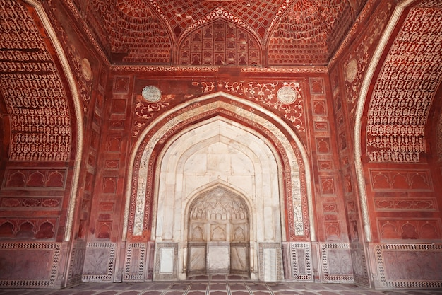 Particolare della decorazione del taj mahal