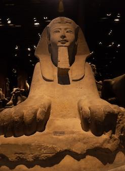 Particolare di una sfinge egizia - periodo ramesside