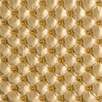 Particolare di struttura del sofà color oro.