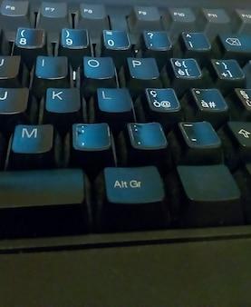 Dettaglio dei tasti sulla tastiera di un personal computer