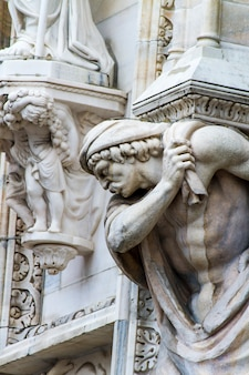 Dettaglio sul duomo di milano, italia