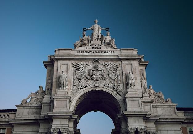 Dettaglio dell'arco di rua augusta, lisbona, portogallo.
