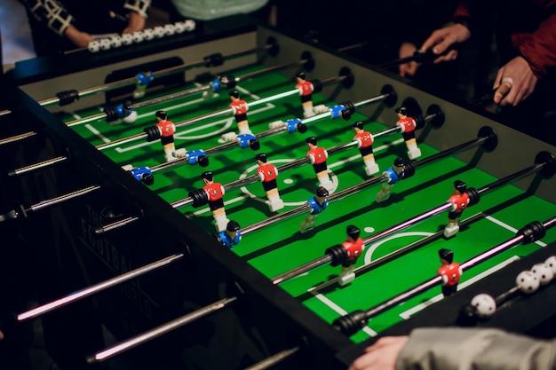 Dettaglio di un gioco di calcio da tavolo