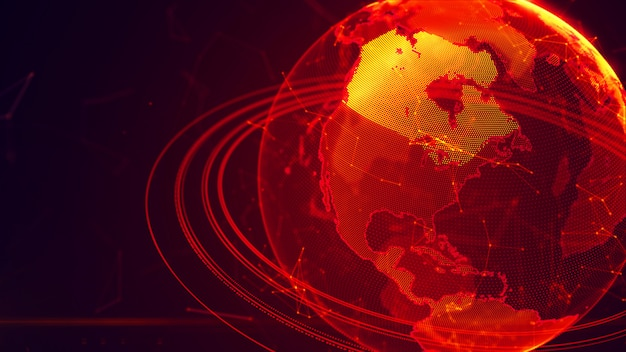 Pianeta terra virtuale dettagliato