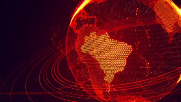 Pianeta terra virtuale dettagliato Foto Premium