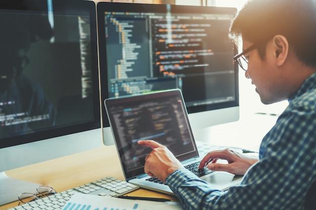 Sviluppo del programmatore sviluppo web design e tecnologie di codifica