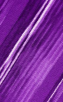 Motivi diagonali di tessuto di lana lavorato a maglia alpaca a righe viola sfumate