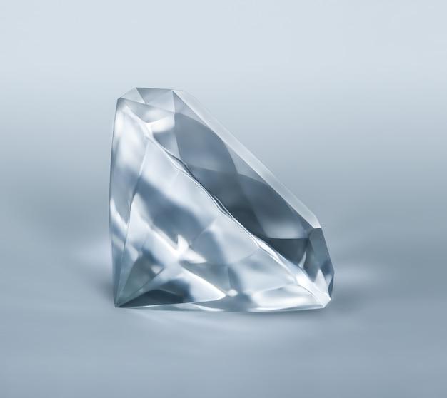 Diamante su sfondo chiaro