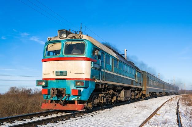 Treno locale diesel in ucraina