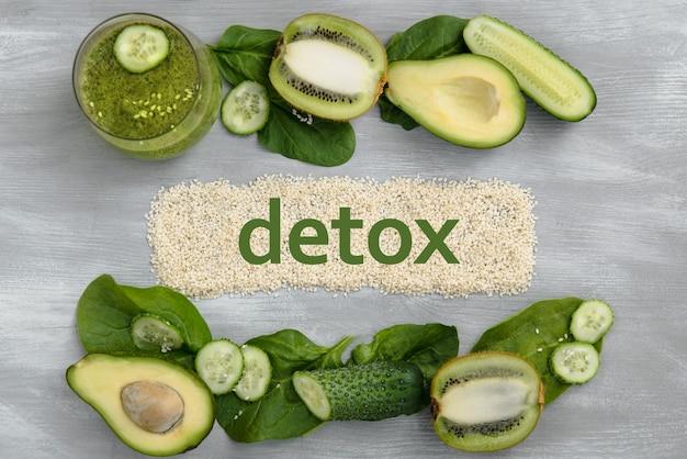 Dieta cibo perdita di peso mangiare sano detox su sesamo