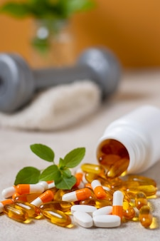 Disposizione di pillole diverse