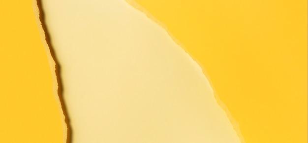Diverse tonalità di spazio copia carta gialla