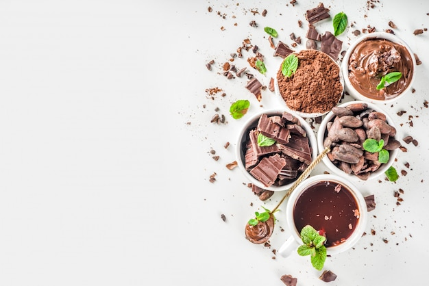 Diversi tipi di cacao