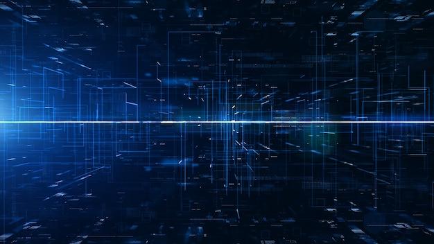 Sfondo astratto digitale cyberspazio digitale