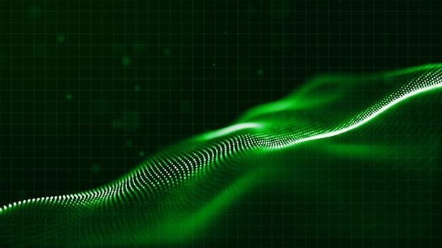 Sfondo astratto particelle digitali
