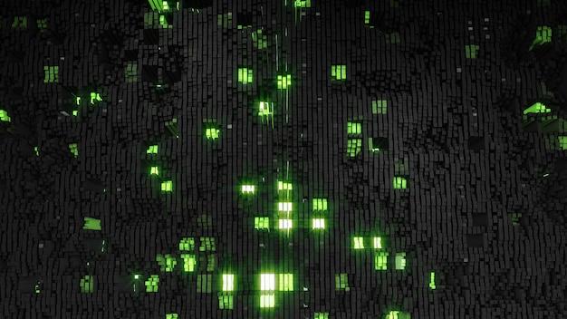 Digitale dei quadrati nero-verdi