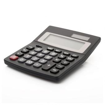 Calcolatrice digitale su bianco