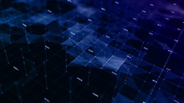Sfondo del cyberspazio digitale