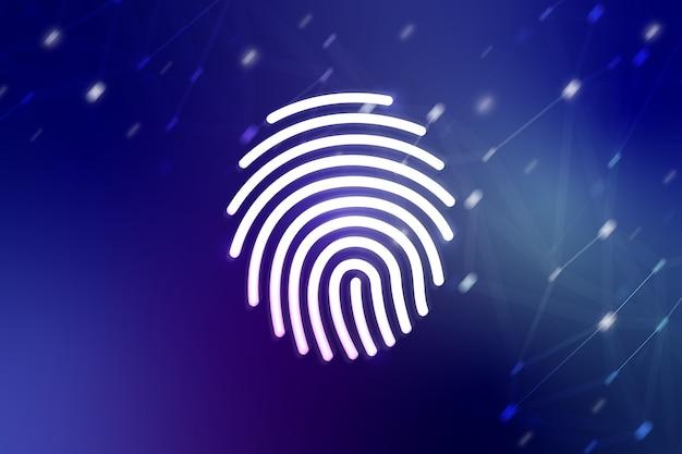 Impronta digitale per il concetto di rete e sicurezza