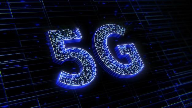 Sfondo della tecnologia 5g del futuro digitale