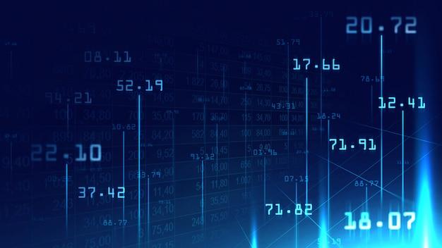 Sfondo di numeri digitali