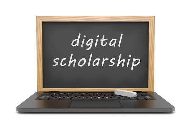 Borsa di studio digitale, concetto di lezioni online