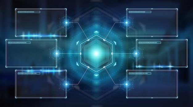 Gli schermi digitali si interfacciano con i dati degli ologrammi