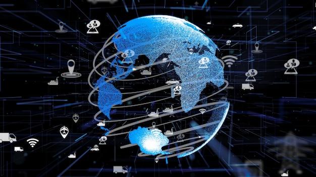 Estratto di tecnologia di trasporto intelligente digitale